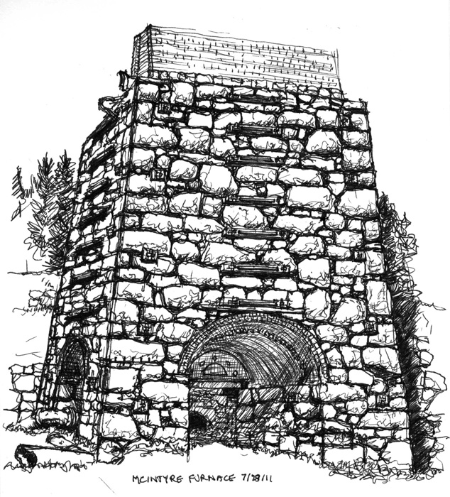 View of the furnace from the east in 2011.